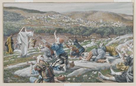 Guérison de dix lépreux,  by James Tissot