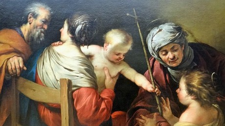 The Holy Family with St. Elisabeth and St. John the Baptist and Jesus