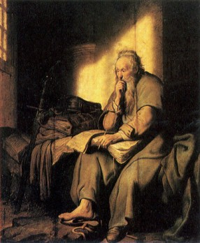 https://commons.wikimedia.org/wiki/File:Paul_in_prison_by_Rembrandt.jpg