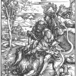 Samson_Killing_the_Lion_Albrecht_Dürer